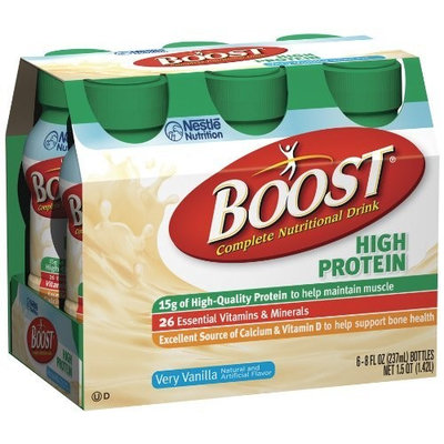 Boost High Protein Nutritional Energy Drink, Vanilla, 8 Ounce Bottle (Pack of 24)