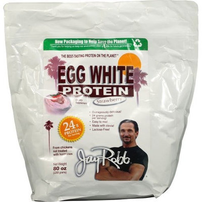 Jay Robb Egg White Protein Strawberry -- 80 oz