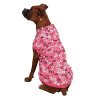 Casual Canine Bone Heads Waffle Pet Sweatshirt Hoodie - Pink