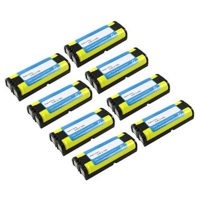 New Replacement Battery For Panasonic HHR-P105 For KX-FG2451 / KX-TG2620 8 Pack