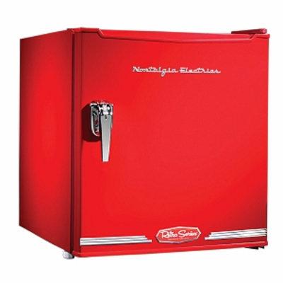 Nostalgia Electrics Retro Series 1.7-Cubic Foot Mini Fridge, Red, 1 ea