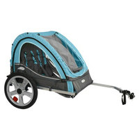 InSTEP Take 2 Bicycle Trailer - Light Blue/ Gray (Double)