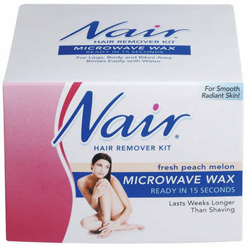 Nair Microwave Wax Fresh Peach Melon Hair Remover Kit