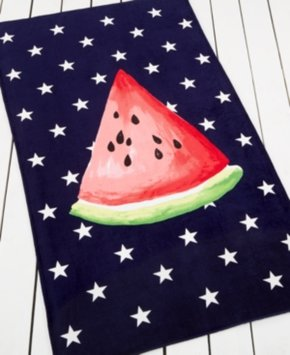 Martha Stewart Collection Summer Picnic Watermelon Beach Towel Bedding