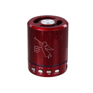 Insten Red Mini Portable Music Speaker For Mobile Cell Phone MP3 Tablet
