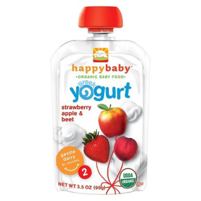 Happy Baby Greek Yogurt Pouch - Strawberry, Apple, & Beet 3.5 oz (8