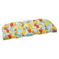 Pillow Perfect Outdoor Wicker Loveseat Cushion - Blue/Yellow Neddick