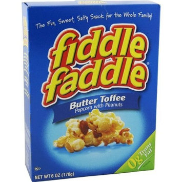 Fiddle Faddle Butter Toffee Popcorn with Peanuts (Six Boxes)