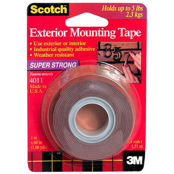 Scotch Mounting Tape, Exterior, Super Strong, 1-Inch, 1 roll