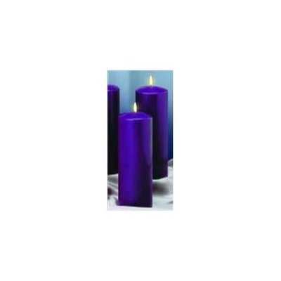 Emkay Candles 54219 Candle Advent Pillar Set 9 x 3 4 Purp