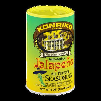 Konriko Brand Wheat & Gluten Free All Purpose Seasoning Hot 'n Spicy Jalapeno