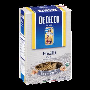 De Cecco Fusilli 100% Organic