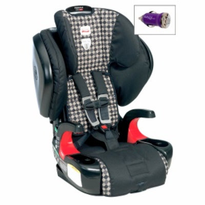 Britax Pinnacle 90 Booster Car Seat and FREE Mini Auto USB Adapter, Cityscape, 1 ea