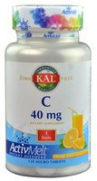 KAL C ActivMelt Orange Juice 40 mg - 120 Micro Tablets