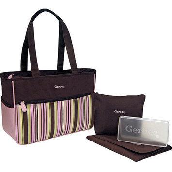 Gerber - 4-in-1 Diaper Bag, Pink Stripe