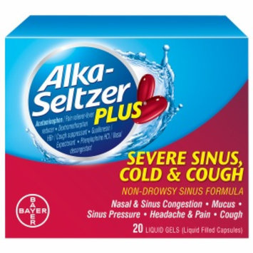 Alka-Seltzer Plus Severe Sinus Cold & Cough Liquid Gels, 20 ea