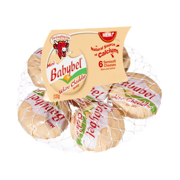 The Laughing Cow Mini Babybel® White Cheddar Cheeses - 6 CT