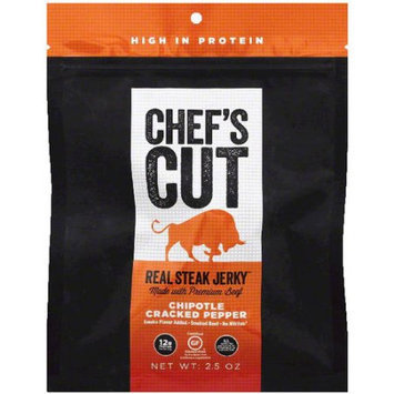Chefscut Chef's Cut Chipotle Cracked Pepper Real Steak Jerky, 2.5 oz, (Pack of 8)