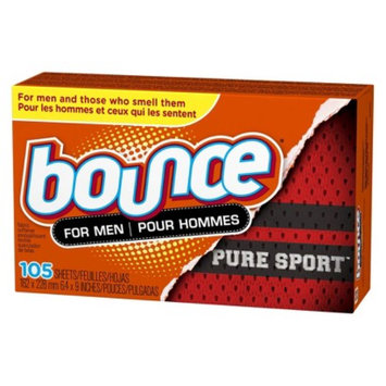 Bounce For Men Pure Sport Dryer Sheets 105 count