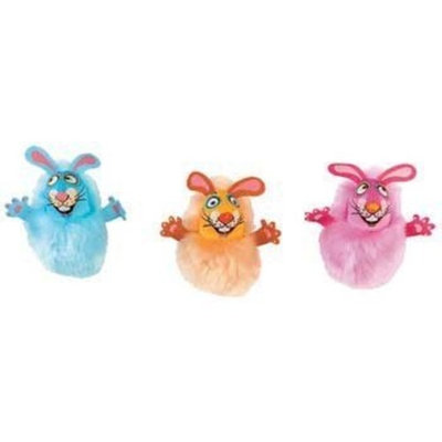 Unknown Bamboo Pet CAM650554 Fat Cat Kitty Hoots Fluff Bunnies Cat Toy, Pink and Blue