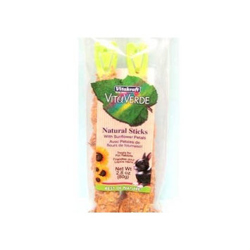 Vitakraft Sun Seed Company Vita Verde Natural Treat Sticks Sunflower Petal Rabbit