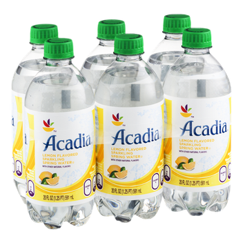 Acadia Sparkling Spring Water Lemon - 6 PK