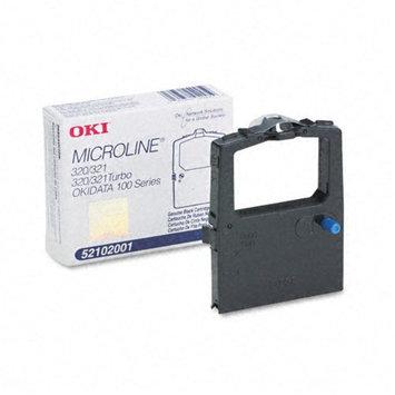 Oki 52102001 Printer Ribbon, Nylon, 3M Yield, Black