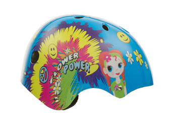 Taiwan New Idea Service Enter. Titan Flower Power Princess Protective BMX and Skateboard Helmet, 11-vents, Size Small for ages 5+