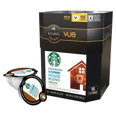 Starbucks House Blend Decaf Coffee Keurig Vue Portion Packs, 16 Count