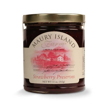 Gourmet Strawberry Preserves, 11 oz Jar - All Natural - by Maury Island Farms (Pack of 4)