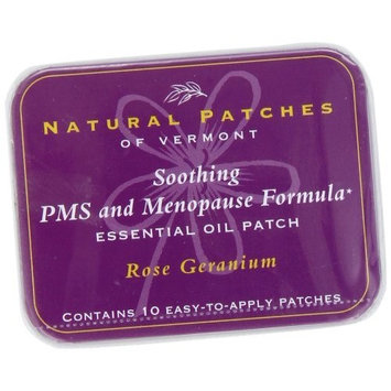 Naturopatch Of Vermont Rose Geranium Relief From PMS & Menopause Body Patches, 10-Count Tins