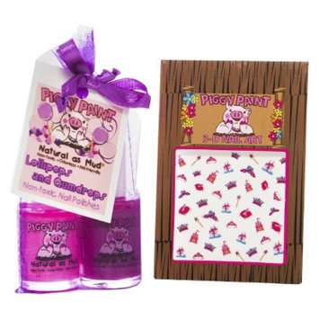 Rockhouse Industries, Inc Piggy Paint Lollipops & Gumdrops Non-Toxic Nail Polish with Princess