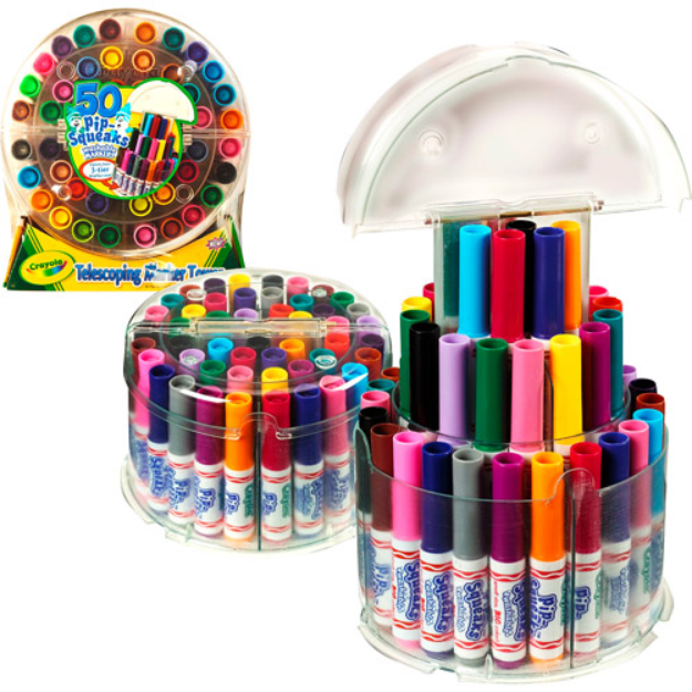 Crayola Telescoping 50-Marker Pip Squeak Tower