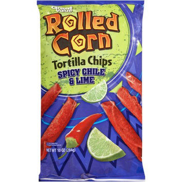 Walmart Stores Inc Great Value Rolled Corn Spicy Chile & Lime Tortilla Chips, 10 oz