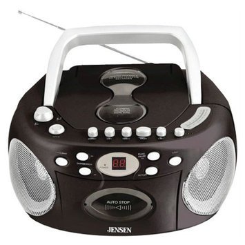 Jensen Portable Stereo Compact Disc Cassette Recorder with AM/FM Radio CD-540