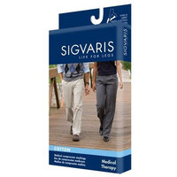Sigvaris 230 Cotton Series 30-40 mmHg Unisex Open Toe Knee High Sock Size: Large Short