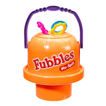 Little Kids Inc. Fubbles Orange No Spill Big Bubble Bucket