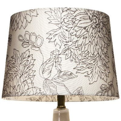 Threshold Floral Toile Stitch Lamp Shade - Shell Small