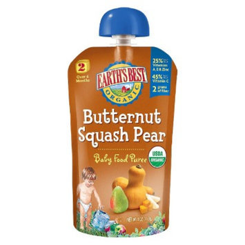 Earth's Best Baby Food Pouch - Butternut Squash Pear 4oz (12 Pack)