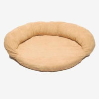 Hayneedle Habitats Medium Protector Pad with Bolster Pet Bed Carmel-DISCONTINUED
