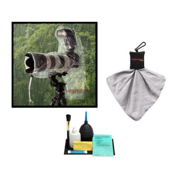 OP/Tech Op/Tech USA Rainsleeve for Digital SLR Camera, Lens & Flash (2 Pack) with Accessory Kit