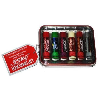 Bonne Bell Lip Smacker Coca Cola Kisses Lip Collection 6 Lip Balms Tin