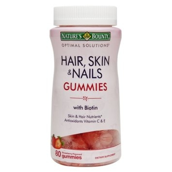 Nature's Bounty Hair, Skin & Nails Gummies with Biotin, 80 ea