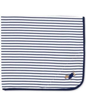 Little Me Baby Boys' Navy Dachshund Blanket Kid's