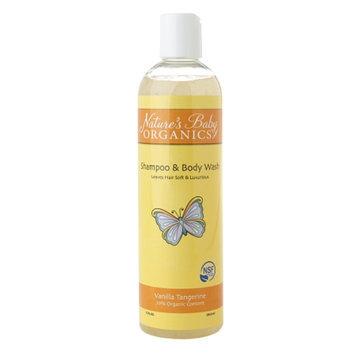 Natures Baby Organics Shampoo & Body Wash NSF, Vanilla Tangerine, 12 fl oz