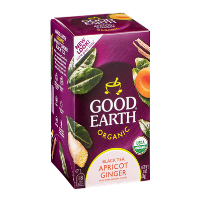 Good Earth Organic Black Tea Apricot Ginger - 18 CT
