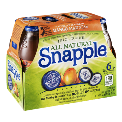 Snapple All Natural Mango Madness - 6 CT