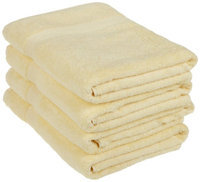 Blue Nile Mills 4-Piece Absorbent 100% Egyptian Cotton Bath Towel Set 600 GSM, Canary