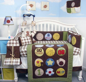 Soho Designs 13 Piece Let's Play Game Baby Crib Nursery Bedding Set