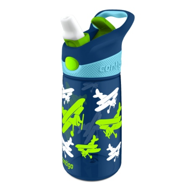 Contigo Striker Water Bottle, Navy Planes, 1 ea